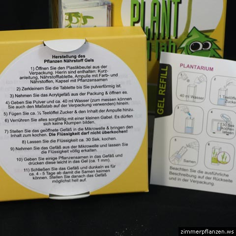 plant gel lab anleitung